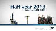 OMV Corporate TV:  OMV Results Video: January – June 2013 (English)