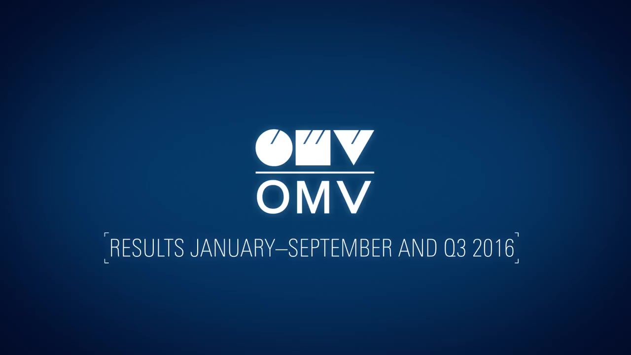 OMV Corporate TV: Statement by CEO Rainer Seele on the OMV results January-September and Q3 2016 (English)