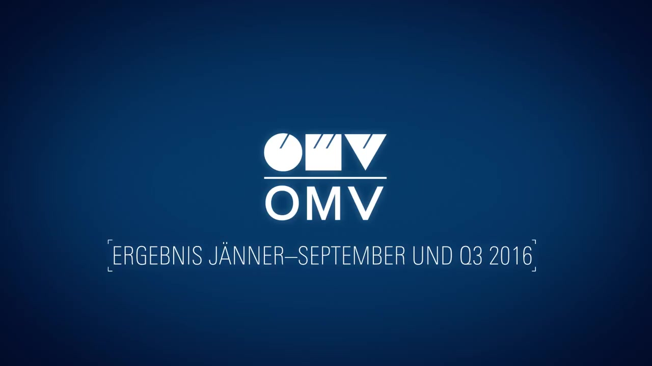 OMV Corporate TV: Statement by CEO Rainer Seele on the OMV results January-September and Q3 2016 (German)